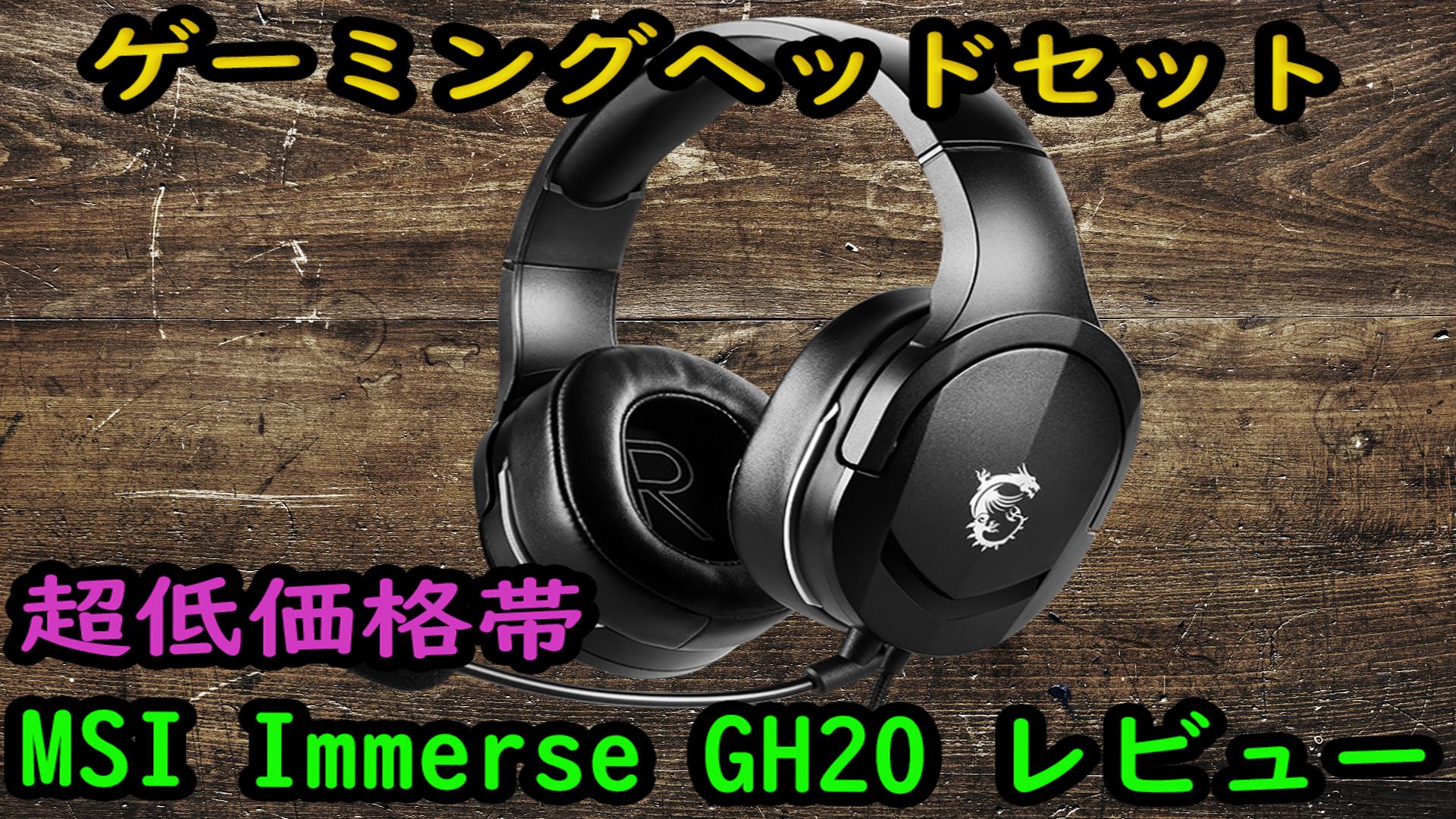 【安い!】ゲーミングヘッドセット MSI IMMERSE GH20【PS4・SWITCHにおすすめ】